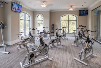 Bell Vinings apartments cycling studio with spin bikes
